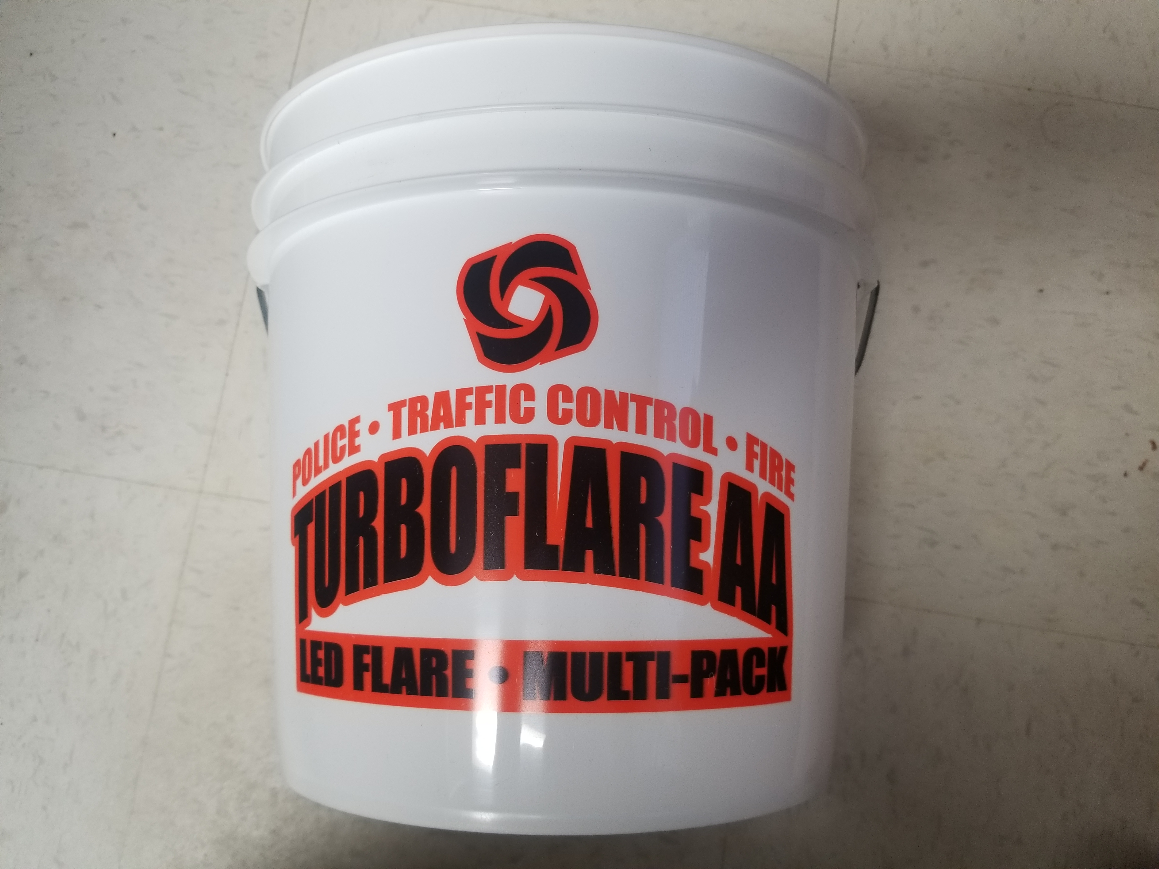 TURBOFLARE AA  Pail Red